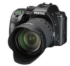 Lustrzanka Pentax K-70 + 18-135 mm WR  + plecak