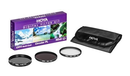 Hoya Zestaw HOYA UV HMC (C), PL-CIR ,NDX8 77 mm