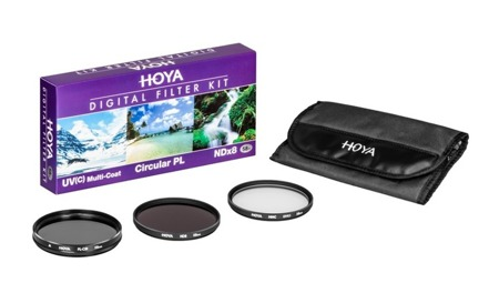 Hoya Zestaw UV HMC (C), PL-CIR ,NDX8 58 mm