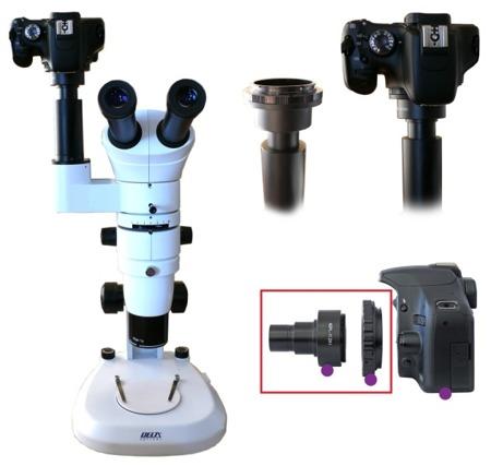 Mikroskopowy adapter fotograficzny do lustrzanek [Nikon]